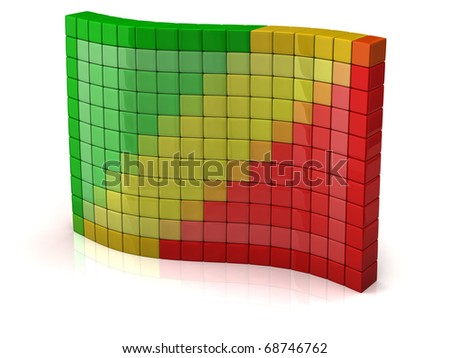 Flag of Congo from cubes