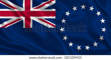 Flag of Cook Islands - stock photo