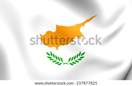 Flag of Cyprus. Close Up.    - stock photo