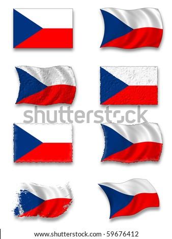 Flag of Czechs - stock photo