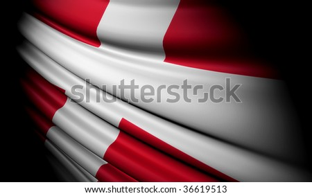 Flag of Denmark - stock photo