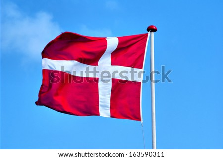 flag of Denmark II. - stock photo