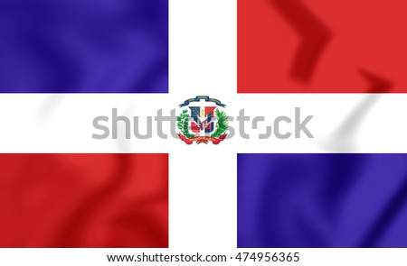 Flag of Dominican Republic. 3D Illustration.