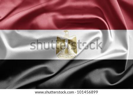 Flag of Egypt - stock photo