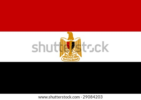 flag of egypt - stock photo