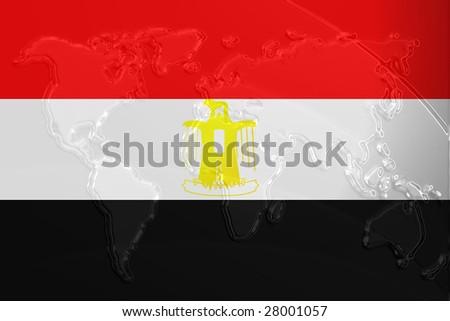 Flag Egypt National Country Symbol Illustration Stock Illustration