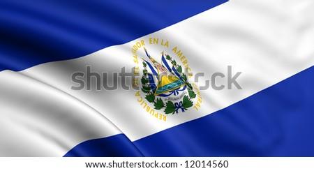Flag Of El Salvador - stock photo