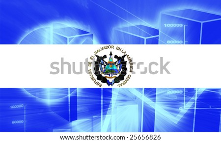 Flag El Salvador National Country Symbol Stock Illustration 25656826