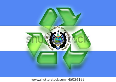 Flag El Salvador National Country Symbol Stock Illustration 45026188