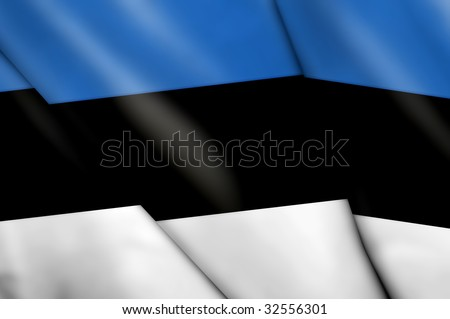Flag of Estonia - stock photo