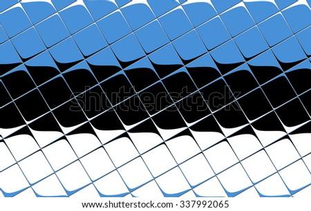 Flag of Estonia - stock photo
