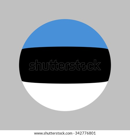 Flag of Estonia, banner - stock photo