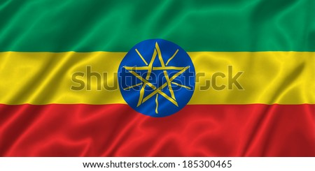Flag of Ethiopia - stock photo