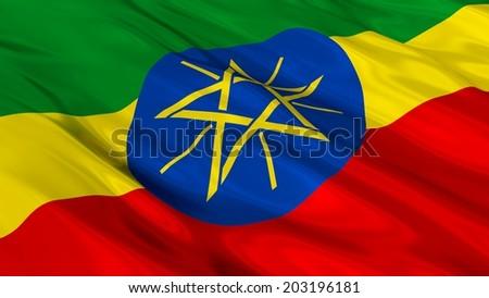 Flag of Ethiopia. - stock photo