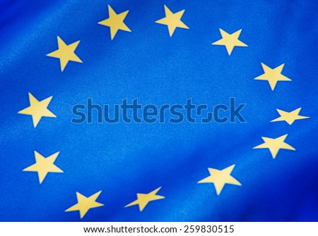Flag of EU. - stock photo
