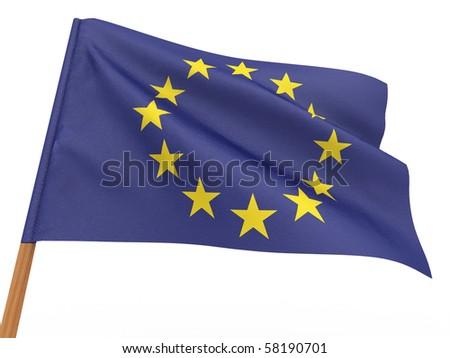 Flag of European union . 3d - stock photo