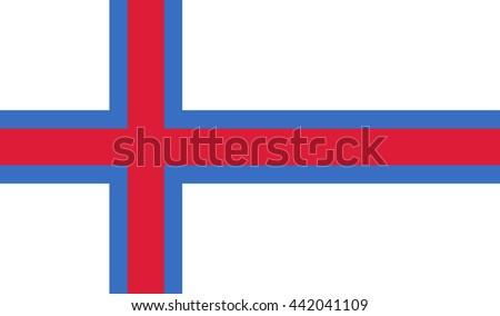 flag of faroe islands - stock photo