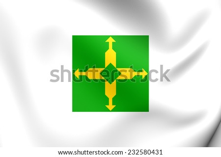 Flag of Federal District, Brazil. Close Up. - stock photo