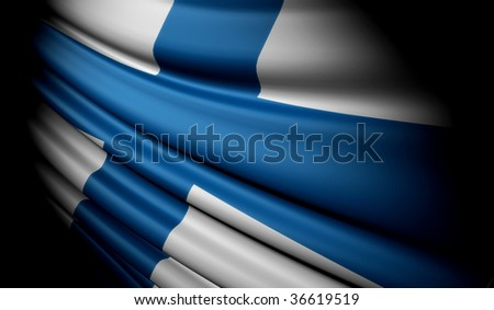 Flag of Finland - stock photo