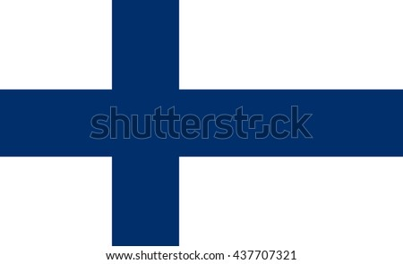 Flag of Finland in correct proportions and colors - stock photo