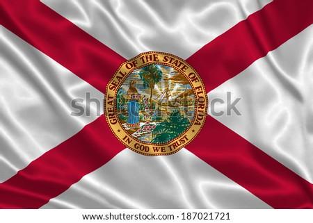 Flag of Florida state (USA) - stock photo