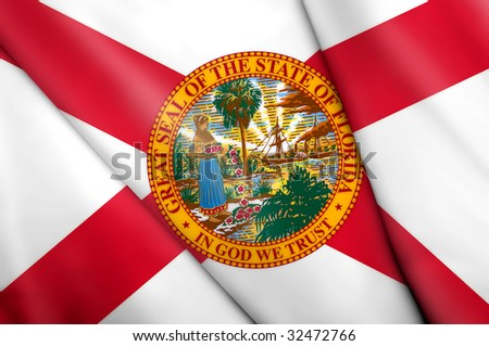 Flag of Florida (USA) - stock photo