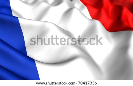 Flag of France. Close up. - stock photo