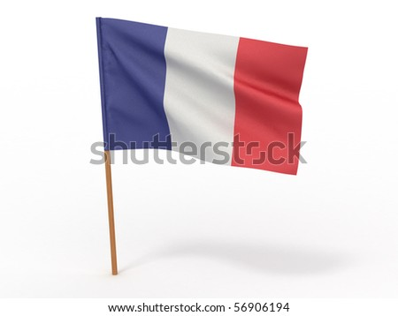 Flag of France. 3d - stock photo