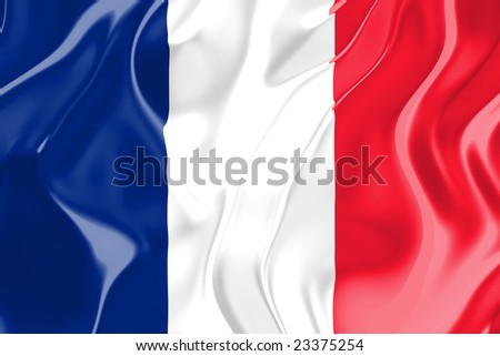 Flag of France, national country symbol illustration