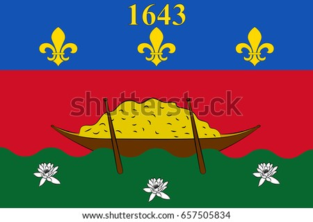 Flag French Guiana Overseas Department Region Stock Illustration - Where is france located