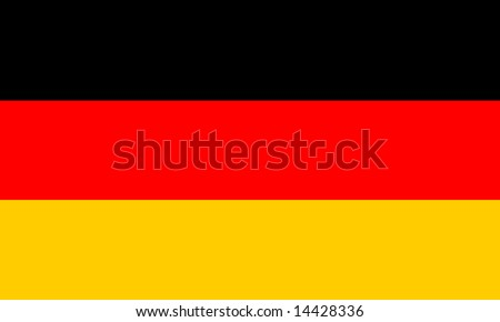 Flag of Germany - correct proportion and HTML colour scheme - stock photo