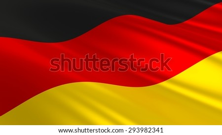 Flag of Germany. 3D illustration