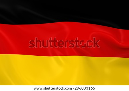 Flag of Germany - 3D Render of the German Flag with Silky Reflective Texture