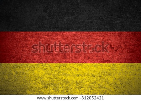 flag of Germany or German banner on old metal texture background
