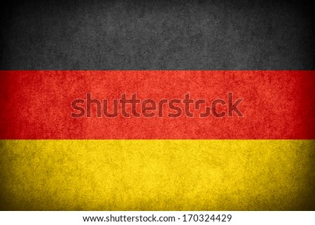 flag of Germany or German banner on paper rough pattern texture