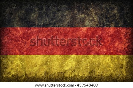 Flag of Germany painted onto a rough wall - stock photo