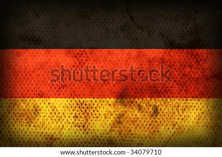 Flag of Germany. Weathered burned material