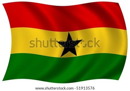 Flag of Ghana - stock photo