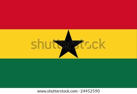 flag of ghana original - stock photo