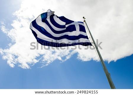 Flag of Greece - stock photo