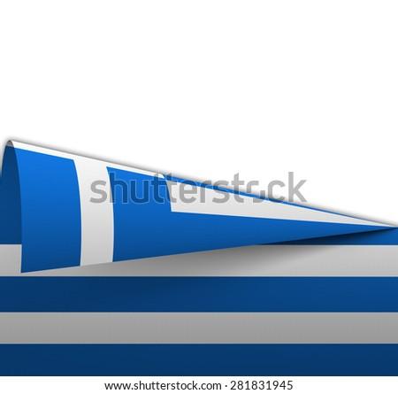 Flag of Greece geometrically rolled up  geometrically  like a dart - stock photo