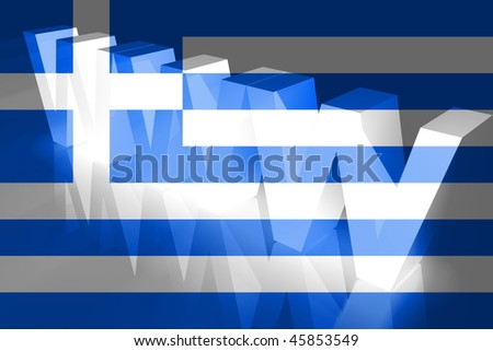 Flag of Greece, national country symbol illustration www internet e-commerce