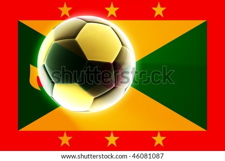Flag of Grenada, national country symbol illustration sports soccer football
