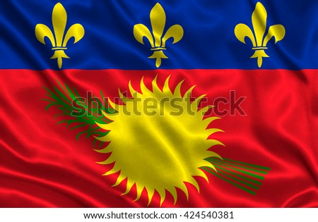 Flag of Guadeloupe - stock photo
