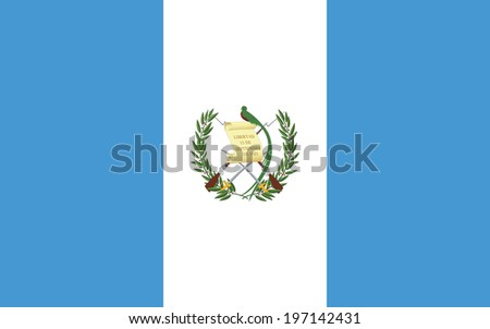 Flag of Guatemala. Accurate dimensions, element proportions and colors. - stock photo