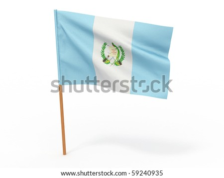 Flag of guatemala . 3d - stock photo