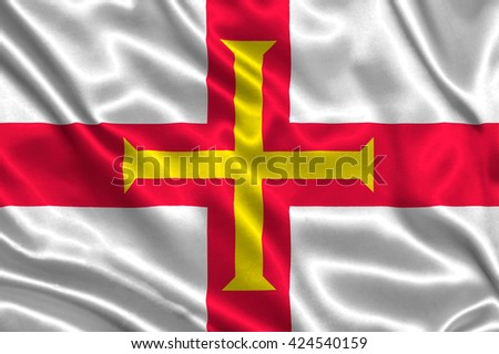Flag of Guernsey - stock photo