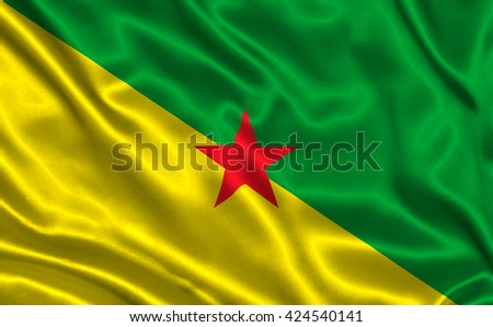 Flag of Guiana - stock photo