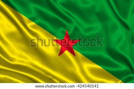 Flag of Guiana - stock photo