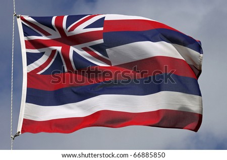 Flag of Hawaii - stock photo